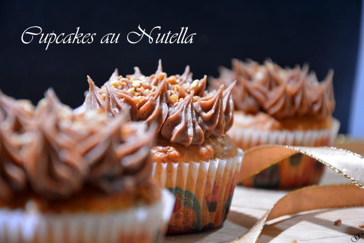 Cupcakes à la poudre de noisette et au Nutella