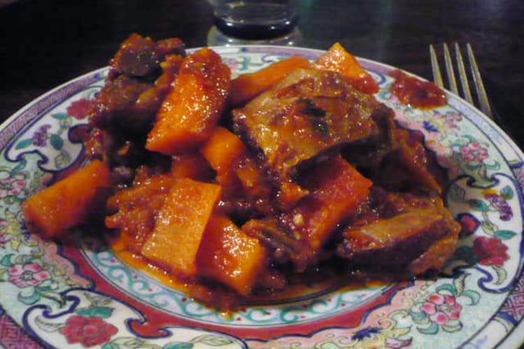 Ragoût d'agneau aux carottes