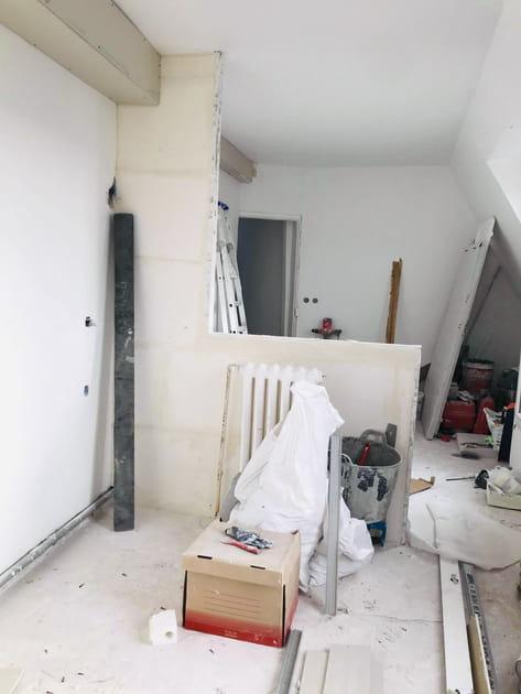La chambre pendant les travaux
