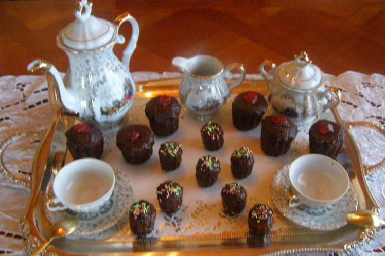 Canelés glacés au chocolat