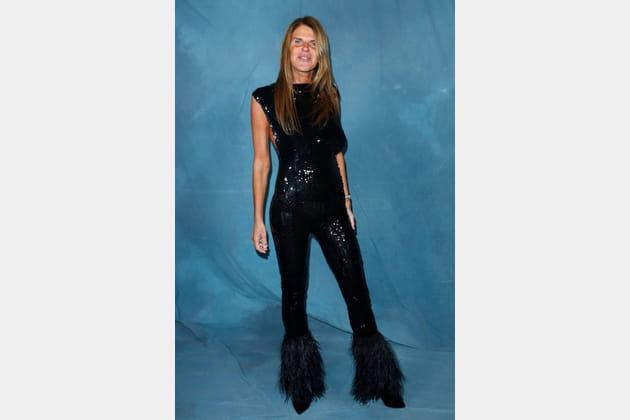 Anna Dello Russo au défilé Givenchy