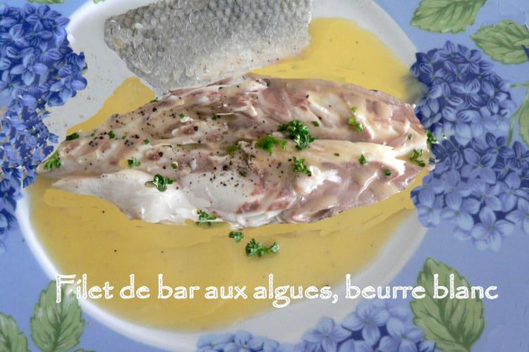 Bar aux algues, beurre blanc