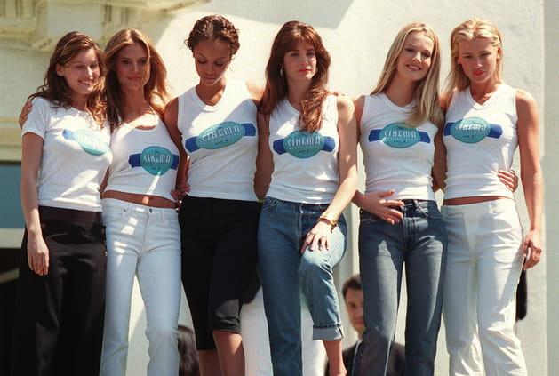 Laetitia Casta, Elle McPherson, Tyra Banks, Stephanie Seymour, Karen Mulder et Daniela Lostova le 13juin 2000