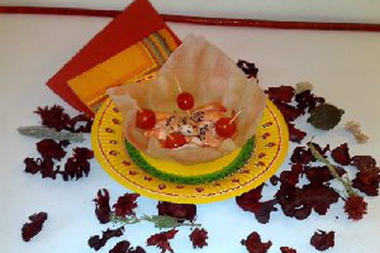 Corolles de crevettes aux oeufs de lump