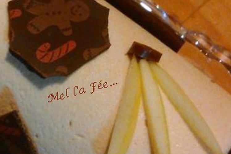 Bûche bavaroise caramel beurre salé, insert de pommes citronnées