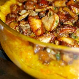paillasson de légumes et cèpes de bordeaux
