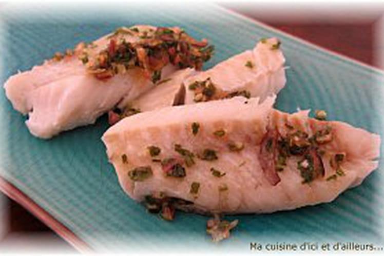 Pavés de poisson au gingembre
