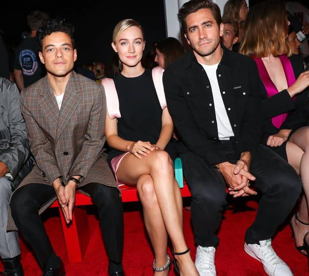 Rami Malek, Saoirse Ronan et Jake Gyllenhaal au défilé Calvin Klein