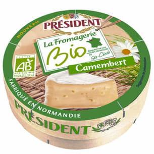 camembert la fromagerie bio de président