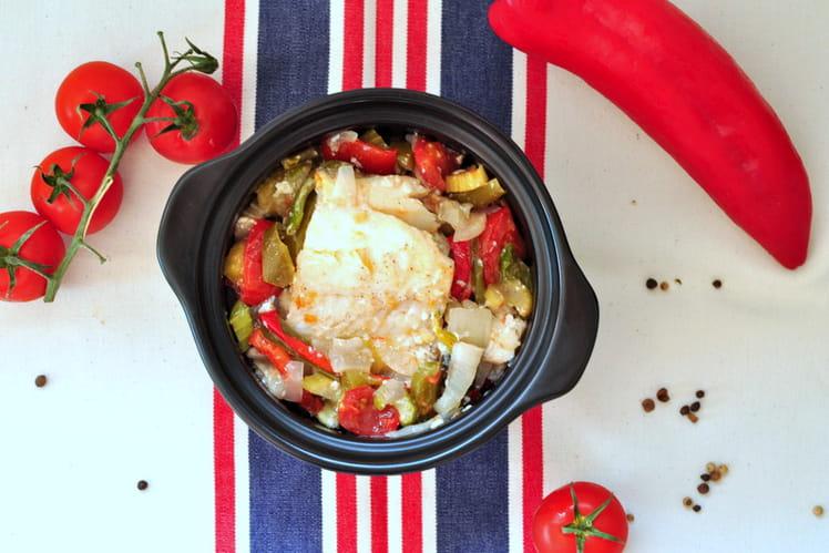 Morue, poivrons, tomates et céleri - Bacalhau à Braga