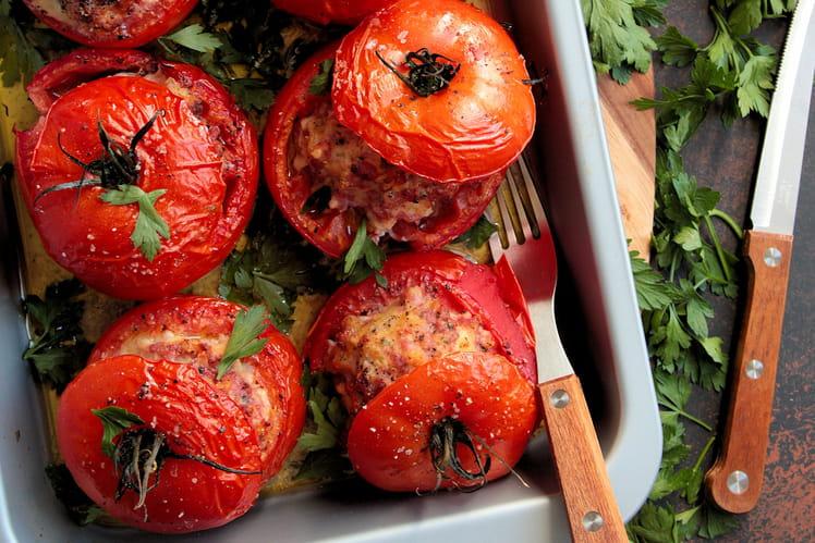 Tomates farcies à la viande de porc