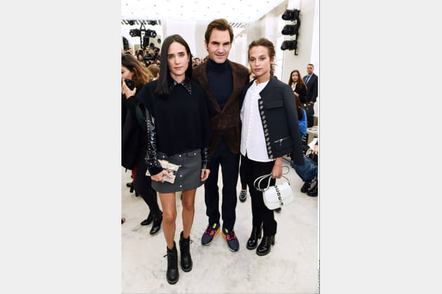 Jennifer Connolly, Roger Federer et Alica Vikander