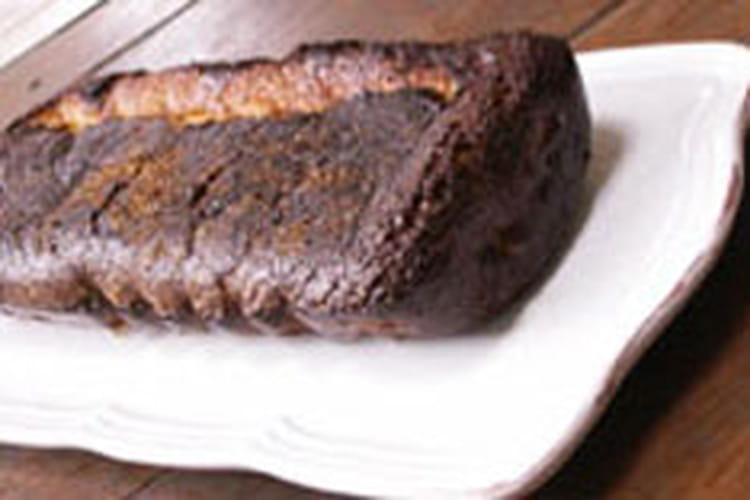 Cake fondant au chocolat blanc et pralin