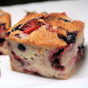 financiers fruits rouges & fraises