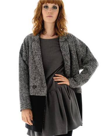 manteau bicolore de naf naf. Black Bedroom Furniture Sets. Home Design Ideas