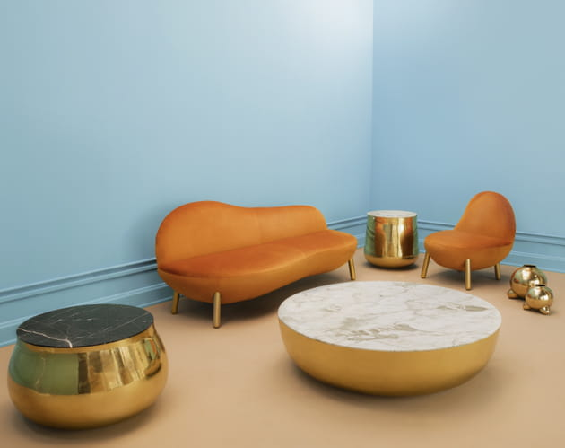 Table Terra Bass Bianco par Dario Contessotto pour Scarlet Splendour