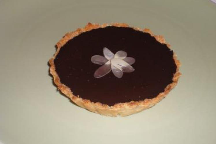Tarte amande et chocolat