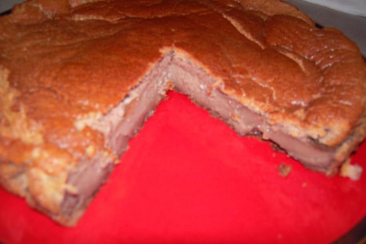 Gâteau magique chocolat tiramisu