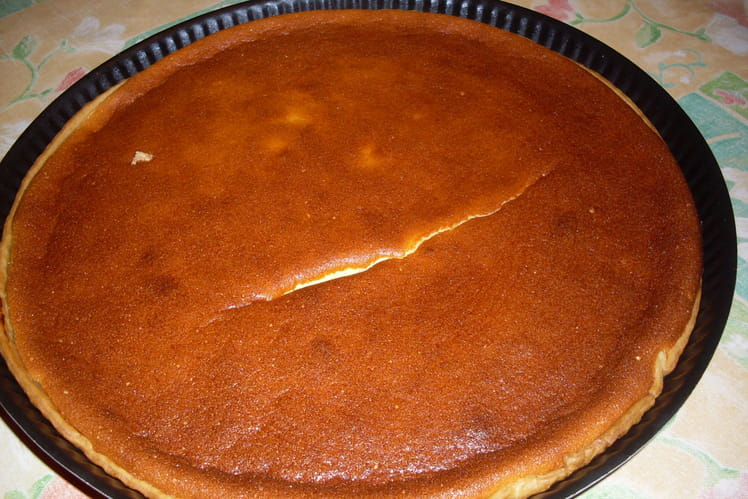 Tarte fromagée à la compote de pommes