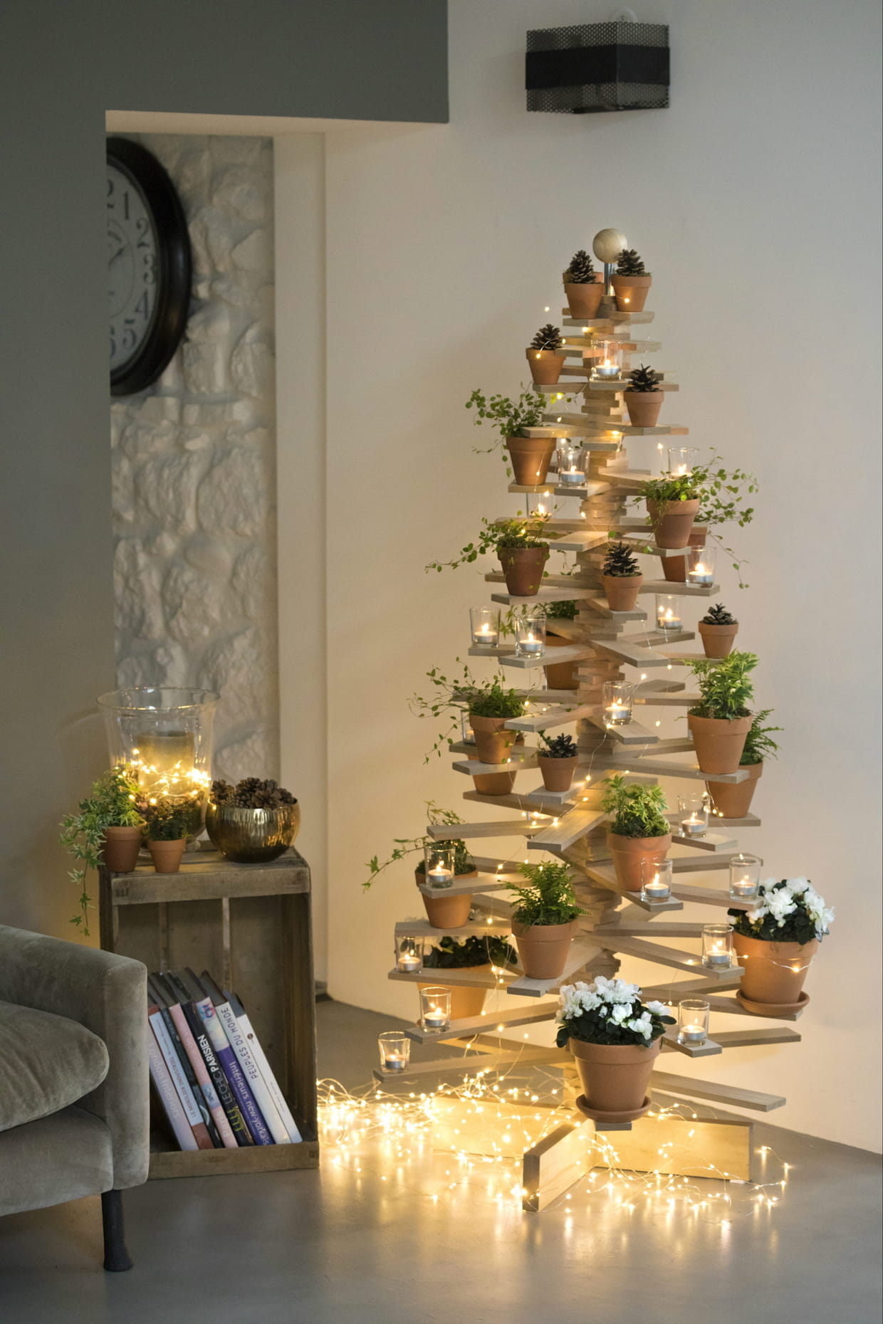 Deco De Noel Originale sapin en bois et fer par botanic