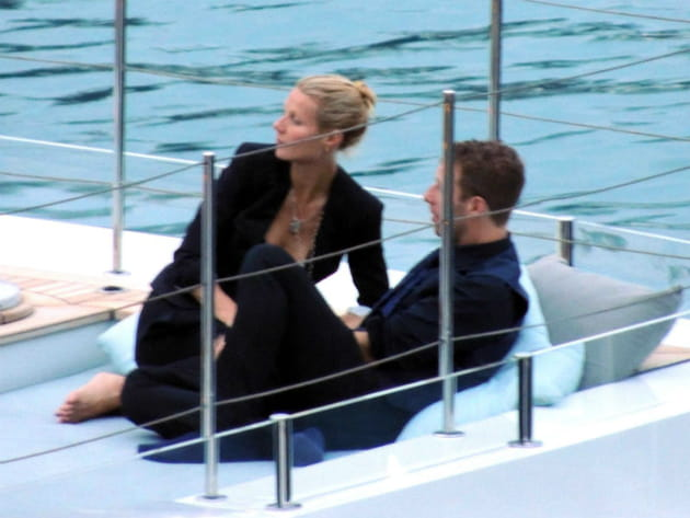 Gwyneth Paltrow et Chris Martin sur un yacht