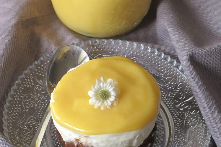 Cheesecake sans cuisson aux fruits de la passion