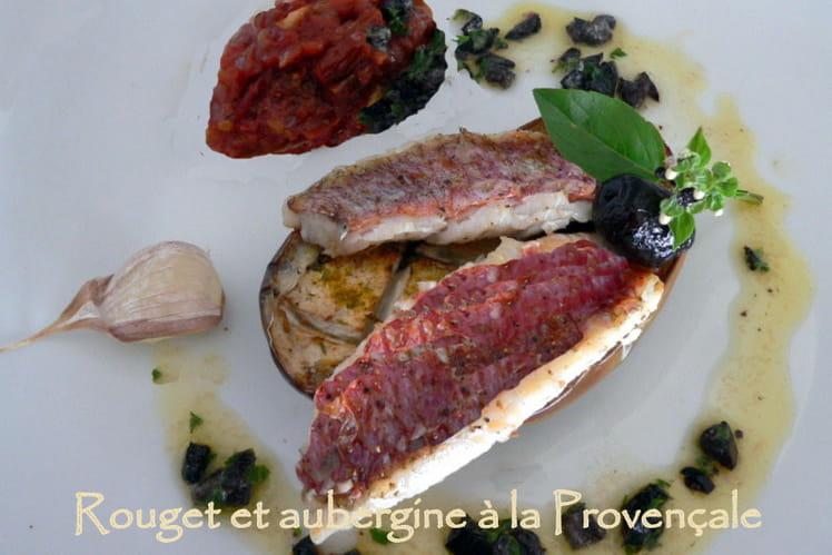 Rouget et aubergine à la Provençale
