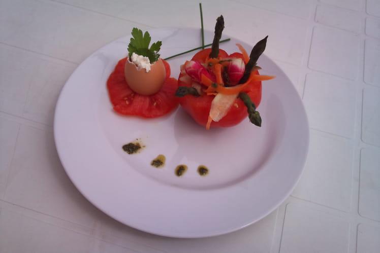 Tomates mozzarella revisitée