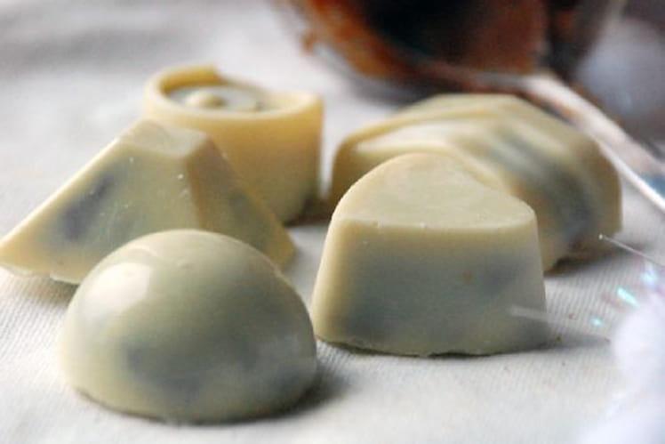 Chocolats blancs à la pâte de spéculoos maison