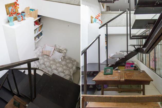 Depuis l'escalier