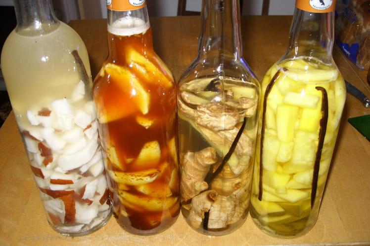 Rhum arrangé au gingembre, vanille et cannelle