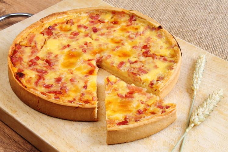 Quiche lorraine parfaite au fromage