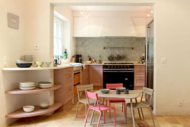 Une cuisine douce et gaie