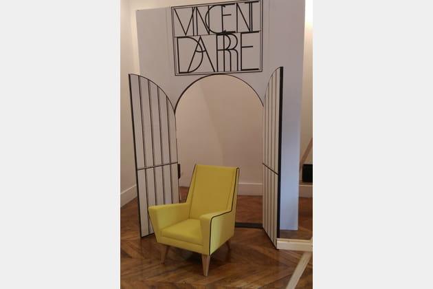 Fauteuil jaune Vincent Darré