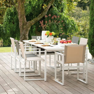 table de jardin epure de botanic. Black Bedroom Furniture Sets. Home Design Ideas