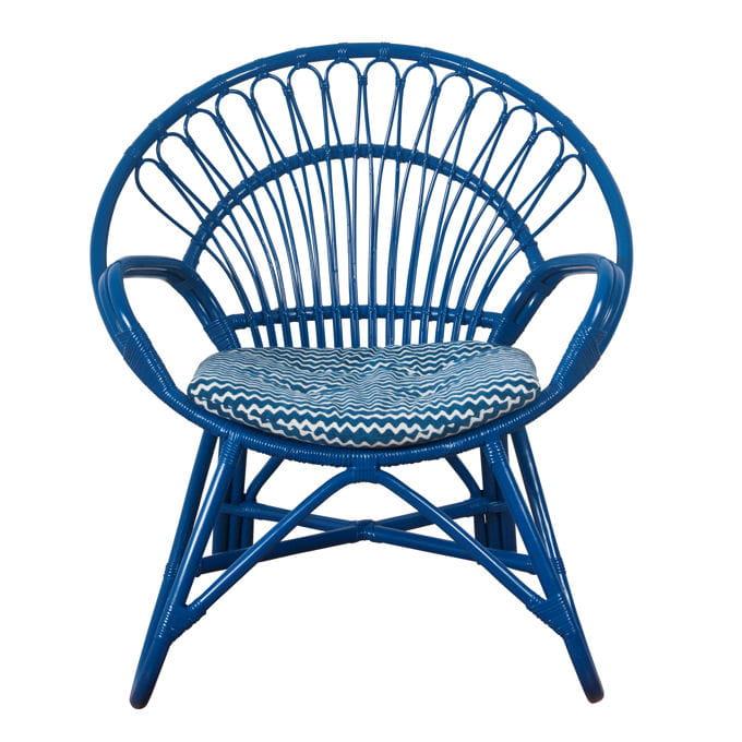 fauteuil bulle en rotin bleu du monde sauvage. Black Bedroom Furniture Sets. Home Design Ideas