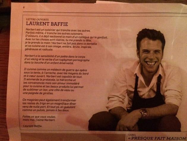 Laurent Baffie : sa déclaration d'amour à Norbert Tarayre