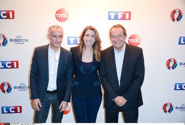 Gilles Bouleau, Anne-Claire Coudray et Jean-Pierre Pernaut