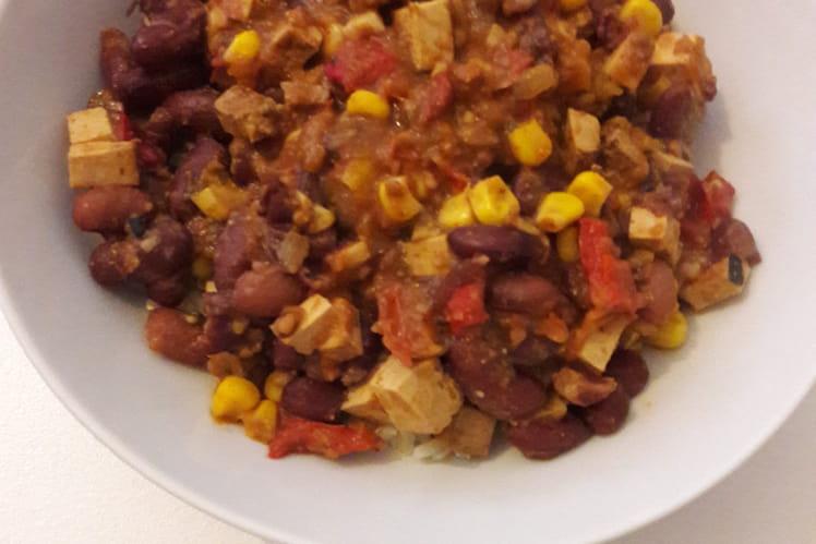 Chili sin carne con tofu