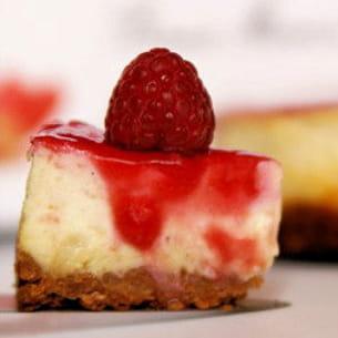 cheesecake framboises et chocolat blanc
