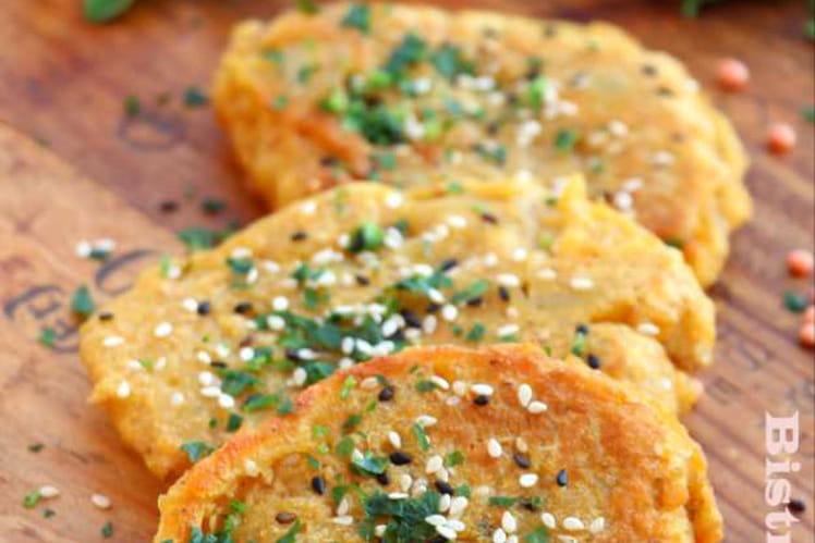 Recette de galettes de lentilles corail la recette facile - Recette comment cuisiner les lentilles ...