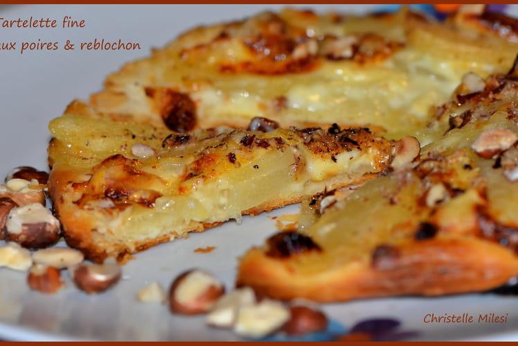 Tartelette fine aux poires et reblochon