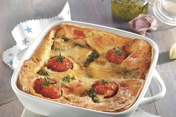 Clafoutis provençal aux légumes d'été