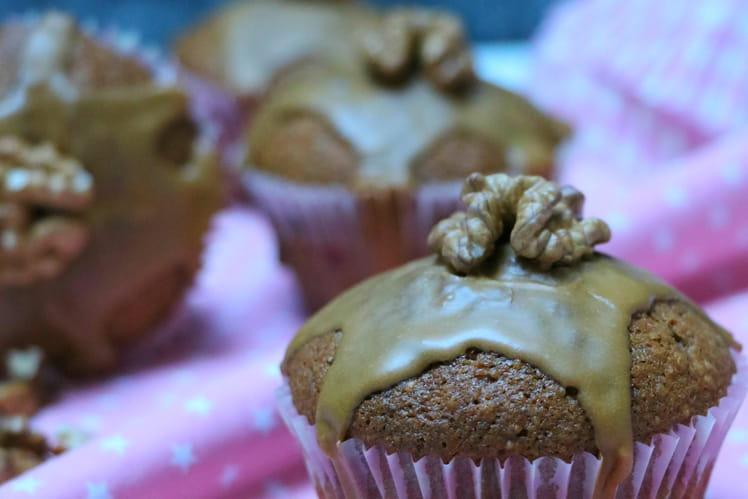 Cupcakes aux noix et café