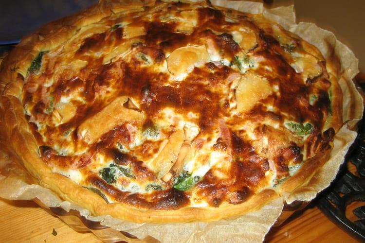 Tarte soufflée aux épinards et  fromage blanc