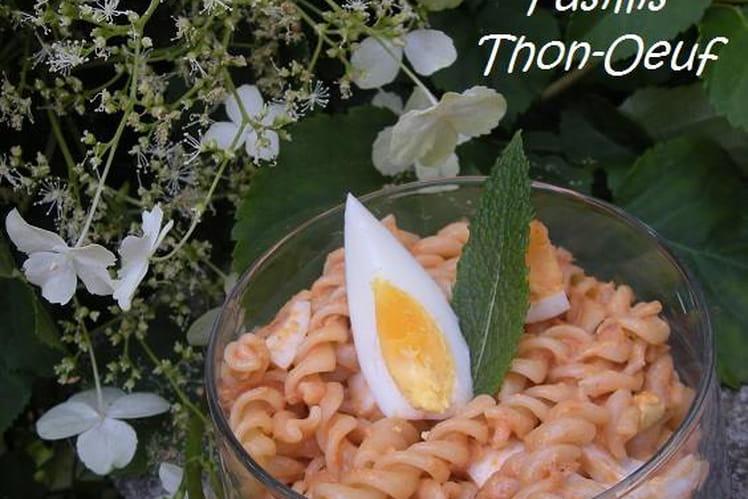 Salade de fusilli au thon et oeuf