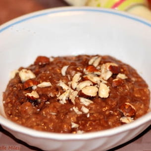 porridge au nutella