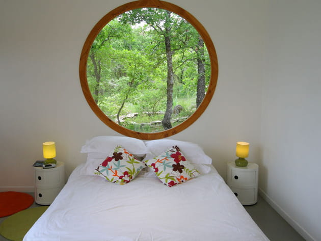 Chambre ouverte sur la nature