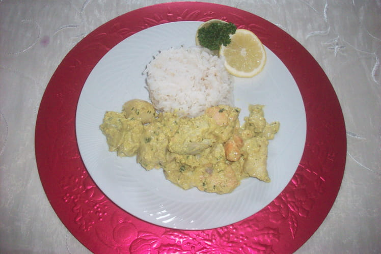 Curry de poissons au lait de coco