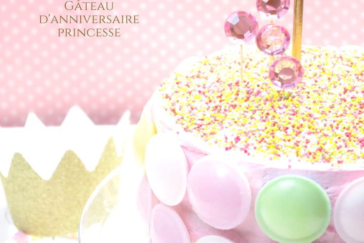 Gâteau d'anniversaire princesse Layer cake chocolat mascarpone fraises